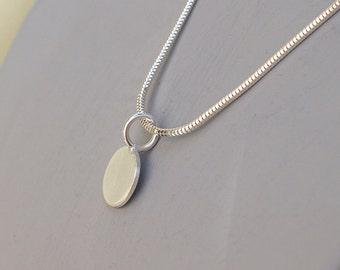 Silver Mini Disc Necklace