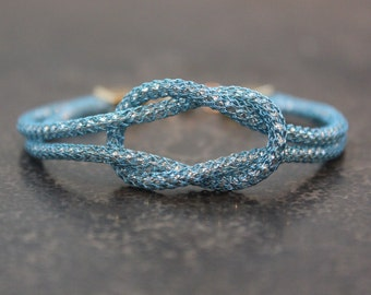 Turquoise Love Knot Infinity Bracelet - Yoga Inspired Jewelry - Gift for Her - Stocking Stuffer - Bridesmaid gift