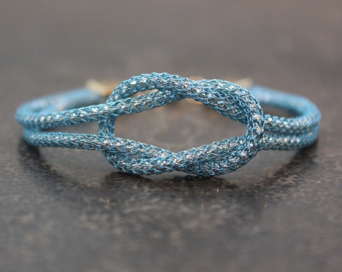 Turquoise Love Knot Infinity Bracelet
