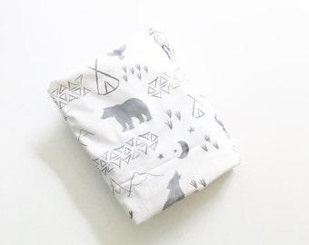 Crib Sheet Watercolor Woodland. Fitted Crib Sheet. Baby Bedding. Crib Bedding. Minky Crib Sheet. Crib Sheets. Grey Crib Sheet.