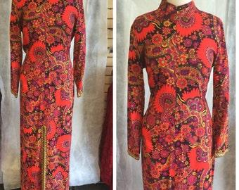 Vintage Physcedelluc Maxi Dress L
