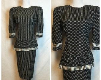 Vintage 80's Polka dot Career dress