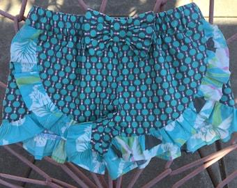 READY TO SHIP, size 5, girls ruffle shorts, toddler ruffle shorts, beach shorts, toddler shorts