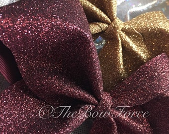"""3"""" Solid Glitter Cheer Bow #257682526"""