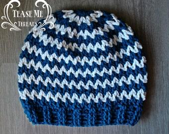 Zig Zag Stripe Crochet Hat
