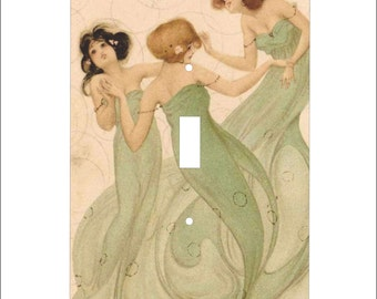Metal Raphael Kirchner Postcard Toggle Light Switch Cover - Single Toggle - Kirchner Switchplate