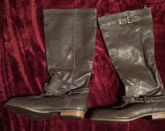 Dark Brown Riding Boots US W 10