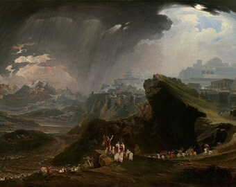 "John Martin : ""Joshua Commanding the Sun to Stand Still upon Gibeon"" (1816) - Giclee Fine Art Print"