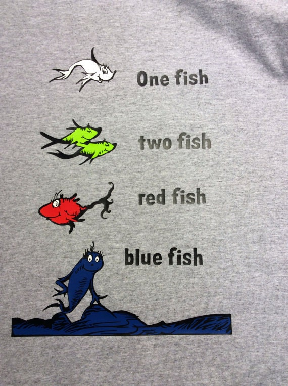 Youth short sleeve one fish two fish red fish blue fish for One fish two fish red fish blue fish