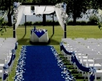 Aisle & Event Runner ~ 100 ft L x 38 in W ~ Blue  ~ Puncture Resistant! Weddings ~ Graduations