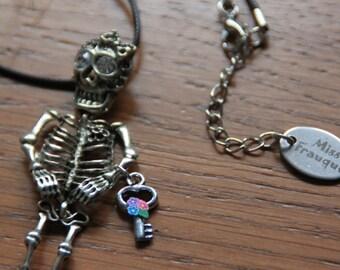 Necklace Catrina Mariachi with key