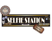 Selfie Station Sign Printable Roaring Twenties Prohibition Speakeasy Flapper Style Wedding Party Photo Booth 24X6 Inch Banner Digital File