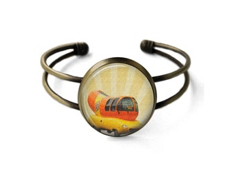 Wienermobile Cuff Bracelet