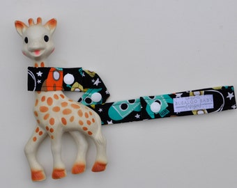 Toy Leash / Toy Strap - Space Station Rockets