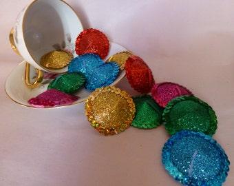 Bulk Burlesque Circle Nipple Pasties - Size 4.5cm Blue/Green/Pink/Gold/Red