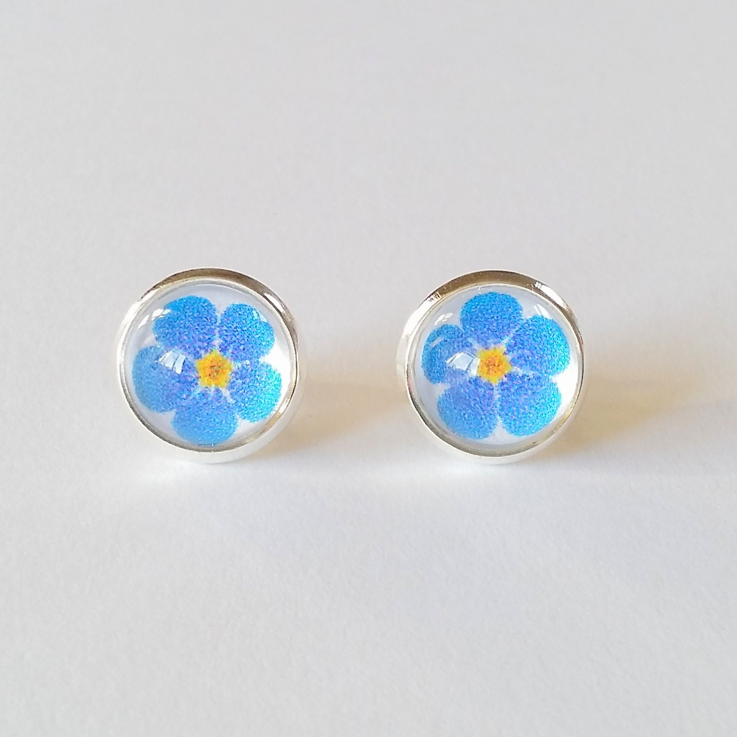 s day gift forget me not earrings flower