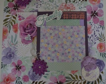 Handmade Scrapbook Page - Happy Days!