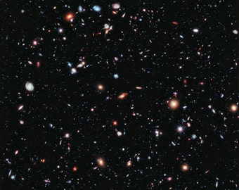 Extreme Deep Field, NASA, Hubble Telescope, Space  -Photo Print