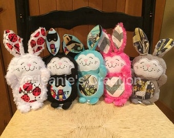 Personalized Stuffed Bunny/ Personalized Easter Bunny/ Easter Bunnies