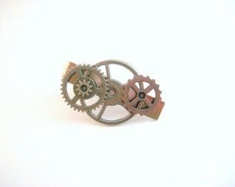Steampunk Tie Clip, Tie Clip, Steampunk Tie Bar, Tie Bar, Steampunk Accessories, Gear Tie Clip, Men's Accessories, Steampunk Wedding, Gear