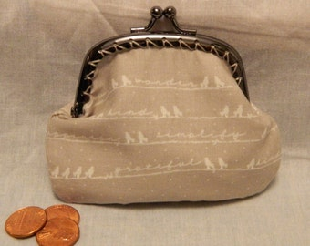 Birds on a Line Coin Purse