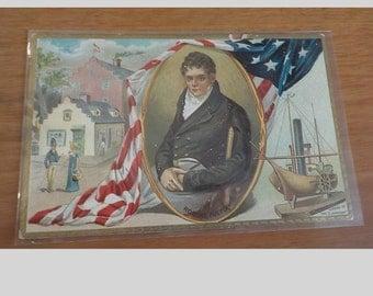 Vintage ORIGINAL Robert Fulton Tuck's Postcard Free Shipping