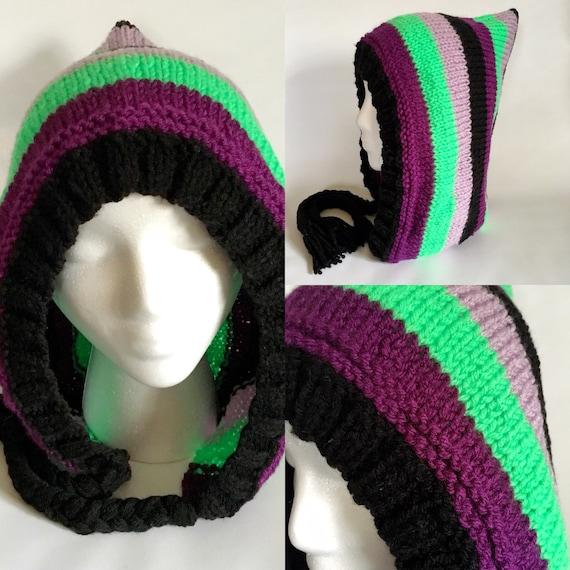 Illidan Inspired Knit Pixie Hood