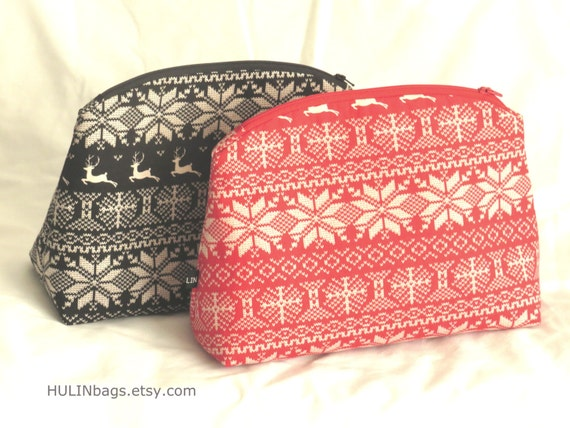 Nordic Cosmetic Bag Make Up Bag Toiletry Bag Craft Purse