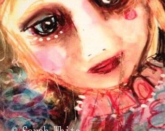 Sweet Vanilla Girl Giclee Print