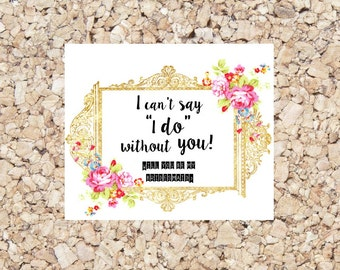 Will you be my bridesmaid? Digital Download Card