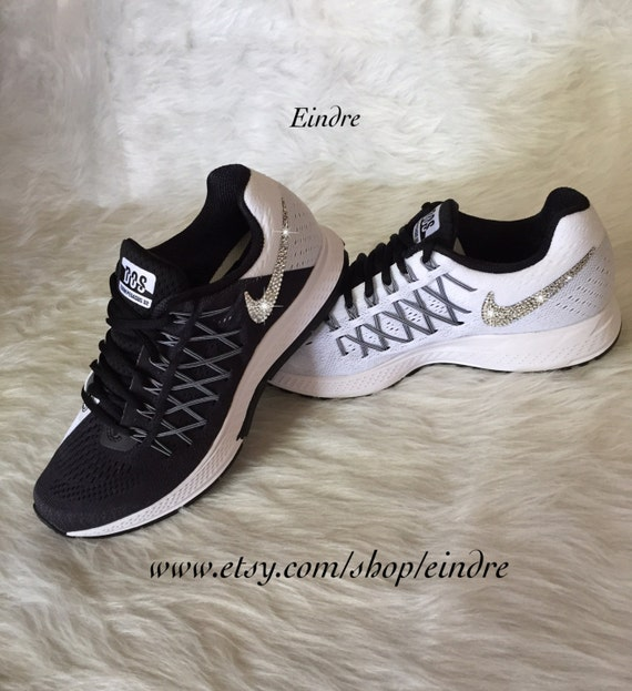 05ae2a5858f6 Nike Pegasus 32 DOS Edition Blinged in Black and White by Eindre 85 ...