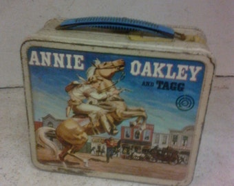 1955 Annie Oakley lunch box