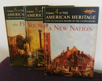 American Heritage New Illustrated History of United States vol 4 5 6 Dell 1963 Athearn