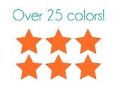 Star Nail Decals - Vinyl, Custom Color Choice