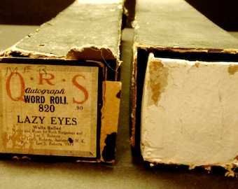 Two old Player Piano Rolls ~ Rosy Posy and Lazy Eyes