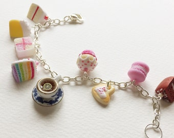Tea and cake bracelet