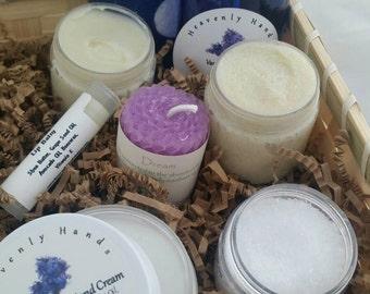 Spa Gift Basket - Vanilla Lavender