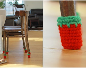 Chair slipcovers, Chair covers,  Floor protector, 8 wool socks, chair leg socks, table socks, Eco-friendly gift