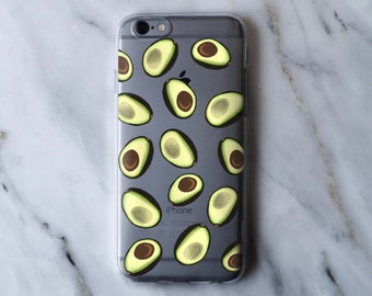 Avocado Pattern Clear iPhone Case - iPhone 5 5S 6 6S Plus Case