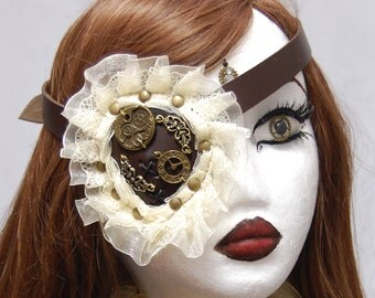 Steampunk Alicia Leather Eyepatch