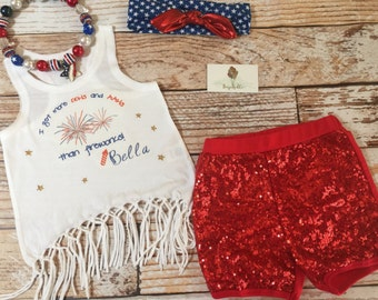 Girls 4th of July  Tank top / July fourth tank tops / 4th of July Tank top / Matching Tank tops / Fourth of July Tank top
