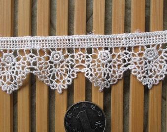 wholesale lot 14yds ivory off white frill   lace trim diy wedding dress   3.6cm