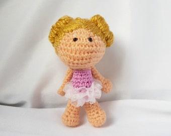 Mini amigurumi doll - Fairy - Mini crochet doll - Crocheted doll - Amigurumi Fairy doll - Mini Crochet Fairy doll - Amigurumi Crochet doll-