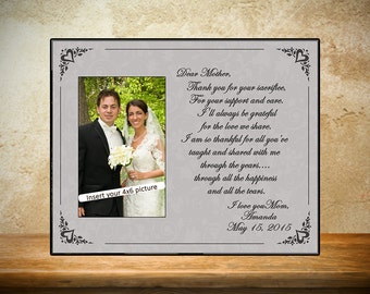 Personalized Wedding Frame - Gray Mother of Bride Frame