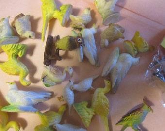 Miniature Plastic Birds Vintage