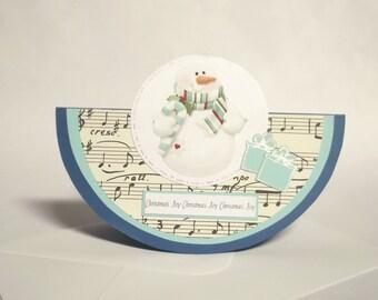Christmas Joy Snowman Greeting Card