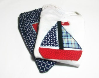 Baby Boy Outfit, Baby Boy Sailboat Outfit, Boys Diaper Cover Set, Baby Boy Gift, Boys Sailboat Bodysuit, Nautical Baby Boy, Baby Fashion
