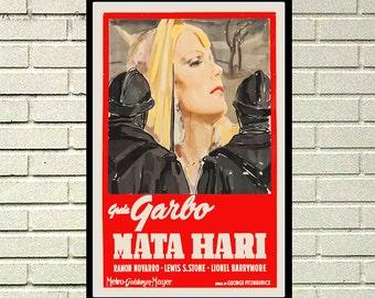 Reprint of the vintage movie poster - Mata Hari with Greta Garbo