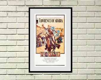 "Reprint of a Vintage Movie Poster - ""Lawrence of Arabia"""