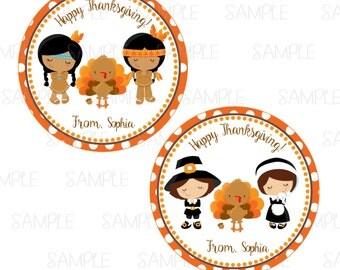 Printable Thanksgiving Favor Tags
